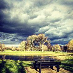 Moody skies today! #landscape #miltonkeynes #rainclouds