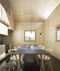 Interior Architecture, Interior Design, Mountain Living, Stone Mountain, Small Windows, Weathered Wood, White Furniture, Rustic Chic, Contemporary Interior