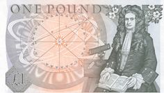 Sir Isaac Newton on the English one pound note. Money Notes, Isaac Newton, One Pound, Super Happy, European History, Old English, Mystic, Childhood, Tapestry
