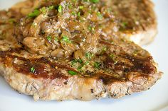 Pepper Crusted T-bone Steak with Caramelized Sweet Onions