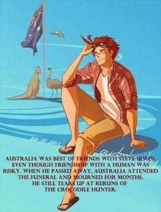headcanons hetalia - I still miss Steve Irwin and the Crocodile Hunter. I do not own this.