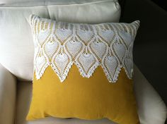 The easiest doily pillow ever