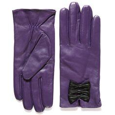 Beau' Purple Black Gloves - Accessories