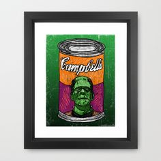 Frankenbeans Framed Art Print by Mike Brennan - $42.00