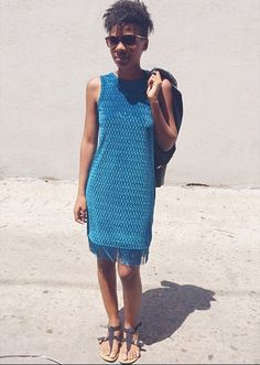 Blue velvet and tassels #Silverwears #topshop #velvetdress #texture #fashion #summertime #springfashion