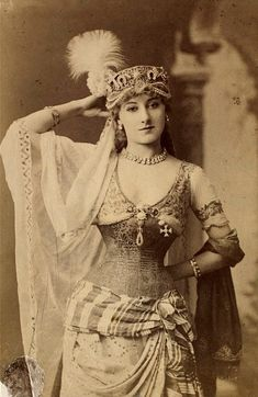... as Lalla Rookh at the Novelty Theatre, photo William Downey (b.1829