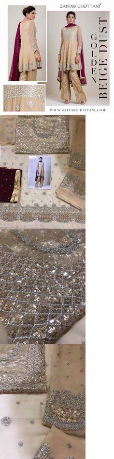 Salwar Kameez 155249: Pakistani Designer Maria B Zainub Chottani Asim Jofa Inspire Kameez Eid Chiffon -> BUY IT NOW ONLY: $112.5 on eBay!