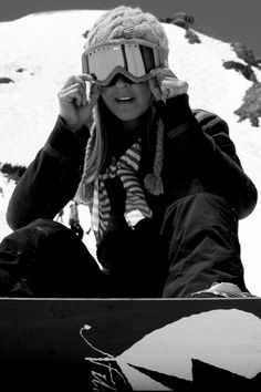 gorgeous b/w photos/snowboarding/women's sports/winter hats  (photo by brian boulos).