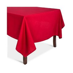 Ruby Solid Tablecloth (1760 RSD) ❤ liked on Polyvore featuring home, kitchen & dining, table linens, red, holiday tablecloths, holiday table linens, cotton tablecloths, colored table cloths and red table cloth