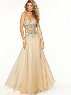 A-line Champagne Long Formal Dress Evening Dress/Prom Dress 2015 Parai 97119