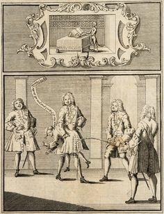 "Frontispiece to Ingratitude; to Mr Pope. Anonymous, 1733.   A nobleman holds a struggling Alexander Pope at the hips while another urinates on his backside; a third stands to the left, laughing, while a fourth on the right observes. Pope cries out ""Damn me if I don't put you all in the Dunciad!"""