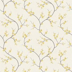Superfresco Easy - Tapet non-woven Solace - Gul - cm Window Coverings, Window Treatments, Dining Room Drapes, Dandelion Clock, Robert Allen Fabric, Room Wallpaper, Blossom Flower, Classic House, Home Living