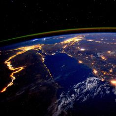 "The Nile at Night  NASA astronaut Scott Kelly (@stationcdrkelly), who recently passed the halfway mark of his one-year mission to the International Space Station, photographed the Nile River during a nighttime flyover on Sept. 22, 2015. Kelly wrote, ""Day 179. The #Nile at night is a beautiful sight for these sore eyes. Good night from @space_station! #YearInSpace."" #Nile #space #spacestation #YearInSpace #photooftheday #photography #nofilter"
