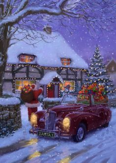 Christmas Tree Decoration Ideas and new trends for 2019 2020 December Part 50 ; Christmas Scenery, Magical Christmas, Christmas Mood, Noel Christmas, Vintage Christmas Cards, Christmas Pictures, Christmas Themes, Christmas Tree Decorations, Christmas Crafts