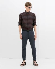 ZARA - MAN - DRAWSTRING TROUSERS