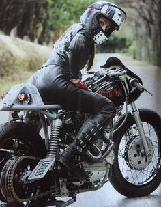 One of a kind project. War Games by Super Rat. Lady bicker cafe racer special motorcycle