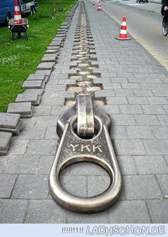 Guerilla Marketing | zip pathway | YKK