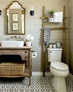 Some greige inspiration and paint guide + mid-week sales picks up on Beckiowens.com today!  Bathroom design @jennasuedesign