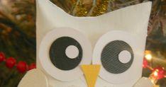 A white snow owl ornament craft Owl Ornament, Ornament Crafts, Christmas Crafts, Christmas Toilet Paper, Toilet Paper Roll Crafts, Cute Christmas Ideas, Christmas Diy, Owl Quilts, Felt Owls