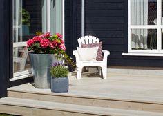TREBITT 9072 Naturgrå Outdoor Rooms, Outdoor Gardens, Scandinavian Garden, Exterior, Plants, Design, Patio, Outdoor Spaces