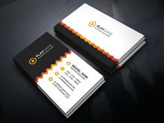 Business Card Templates Features :--------Round /square corner possible.----Easy to edit.----Landscape Design.--- by vazon