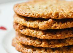 IKEA-Style Havreflarn (Swedish Oat Crisps) Recipe on Chocolate & Zucchini Pecan Cookie Recipes, Pecan Cookies, Chocolate Cookie Recipes, Almond Recipes, Dessert Recipes, Oat Biscuit Recipe, Cookies Et Biscuits, Swedish Recipes, Cookies