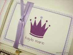 THAT CROWN. Personalized Stationery Gift Set Adorable by inkpartyemporium