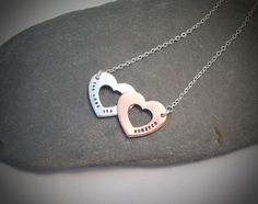"""Two Hearts Together Necklace for the """"Love you Forever"""" range. Love this, two dinky hearts."""