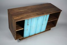 turquoise | Handmade Tv Cabinet Credenza by Wheeler's Studio CustomMade.com
