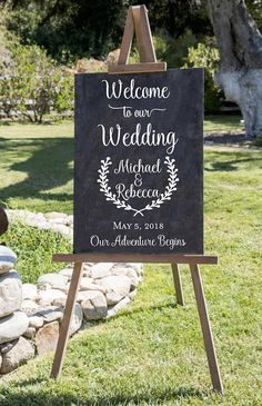 Welcome to the Wedding of DECAL, Rustic Wedding Welcome Sign, Decal ONLY, Wedding Welcome Sign, Diy Wedding Welcome Sign Decal