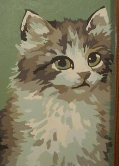 Soft Kitty Warm Kitty vintage Paint by Number by parkavenuethrift, $12.00