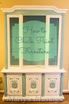 How to Chalk Paint Furniture from Martys Musings