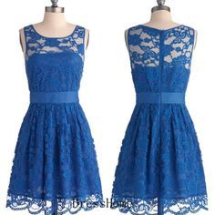 Beautiful cobalt blue dress  (bridesmaid dress)