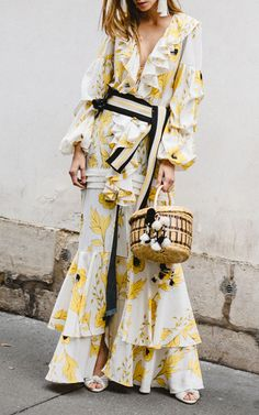 The designer: Clothes that do the flirting for you are what the Colombian designer does best. This season it's about: Tropical florals aren't new for Ortiz, but she has managed to make Spring's feel especially fresh—borrowing the color palette of Paul Gauguin. Speaking of prints, who can resist a polkadot (!!!), while those in search of new silhouettes will love the long-sleeved crewneck dress—a Modette favorite.