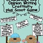 Opinion Writing for Groundhogs Day  Includes:  Fact/Opinion Anchor Charts  Fact/Opinion Scoot Game  Opinion Writing  Craftivity  Differentiated for 1st-5th Grade