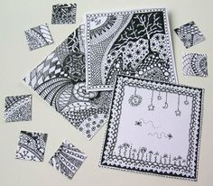 just found this ....ZENTANGLES   There are books with hundreds of patterns ,anything goes . looks fun and relaxing.