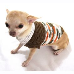 Unique Dog Clothing Handmade Pet Clothes Crochet Puppy Sweater Brown Dog Clothes DK888 Free Shipping