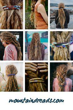 """Dreadlock Accessories. Spiralocks bendable wire dread ties. """"I'm absolutely in love with my rainbow spiralock! It's the easiest way to put up my dreads securely and with very little pressure on the dreads! The rainbow colours make me so happy and the quality is outstanding! 10/10."""" - AJ ⭐⭐⭐⭐⭐ www.mountaindreads.com/spiralocks #spiralocks #mountaindreads #dreadaccessories #dreadshop #dreadlockhairstyles #dreadstyle Dreads Styles, Hair Styles, Dread Shop, Jungle Love, Dreadlock Accessories, Dreadlock Hairstyles, Sari Silk, Head Wraps, Wool Felt"""
