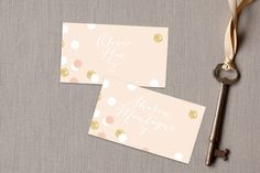 Rose Colored Glass Place Cards by kelli hall at minted.com