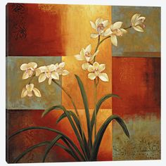 Shop for Jill Devaraux 'White Orchid' Canvas Gallery-wrapped Giclee Art - 30 inches x 30 inches. Get free delivery On EVERYTHING* Overstock - Your Online Art Gallery Store! Canvas Artwork, Canvas Art Prints, Painting Prints, Canvas Wall Art, Art Paintings, Framed Wall Art, Framed Art Prints, Fine Art Prints, Green Orchid