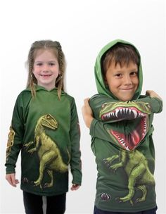 Kids Raptor Hoodie – Mouth Man Animated Clothing and Hoodies - $29.99