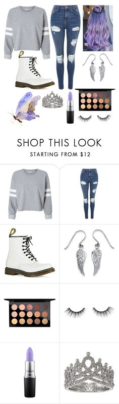 """""""Angel Wings"""" by moriah-fashion ❤ liked on Polyvore featuring Topshop, Dr. Martens, Palm Beach Jewelry, MAC Cosmetics, tarte and Victoria Kay"""