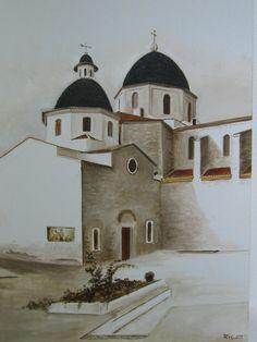 Titulo: La plaza de la Iglesia (Altea)  Técnica: óleo sobre lienzo -- Taller de Arte C/ Porrat nº 4 (Casco Antiguo) ALTEA Alicante Telf. 96 584 34 32 - Móvil 649 10 42 97