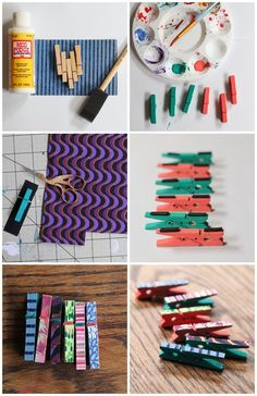 MADE! These are a great way to hang up my kid's art on the 'fridge!     Clothes Pin Magnets via 52 Weeks Project.