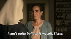 Call the Midwife Series 6 episode 1 - nurse Turner announces that she is expecting a baby. Call The Midwife Seasons, 1 Gif, Film Books, Music Film, Will Turner, Pride And Prejudice, Films, Movies, Movie Quotes