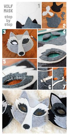 DIY wolf mask tutorial, wool felt wolf mask, oh my handmade