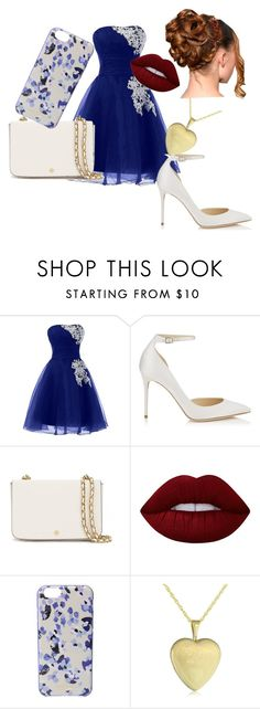 """""""Wedding guest 3"""" by meggieb7 on Polyvore featuring Jimmy Choo, Tory Burch, Lime Crime and Kate Spade"""