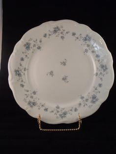 "Vintage Johann Haviland Bavaria Germany Blue Garland 10"" Dinner Plate on Etsy, $9.99"