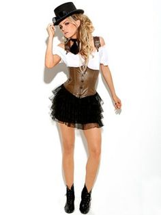 Women's Sexy Racy Steampunk Rose Costume | Sexy New for 2012 Halloween Costumes