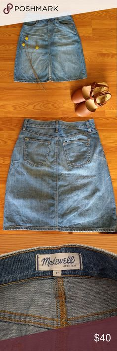 Madewell jean skirt Adorable skirt!  In great condition.  Looks really sweet with everything! Madewell Skirts
